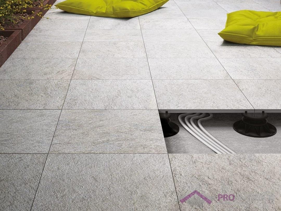 Płytki tarasowe - betonowy taras wentylowany