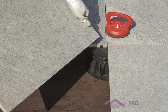 Płytki tarasowe - betonowy taras wentylowany - montaż