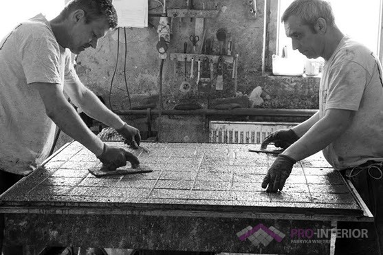 Beton architektoniczny - poznański showroom manufaktury betonu